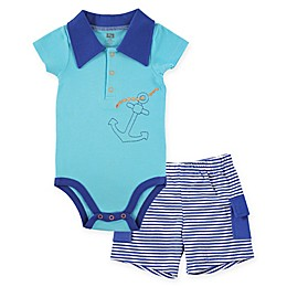 BabyVision® Hudson Baby® 2-Piece Anchor Bodysuit and Cargo Short Set