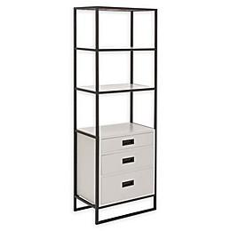 Uma Rectangular Storage Shelf in Black/White