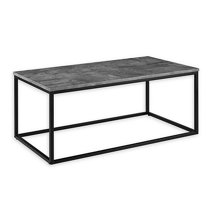 Alternate image 1 for Forest Gate Mixed Material Faux Marble Coffee Table in Concrete