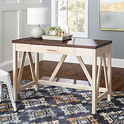 Forest Gate™ 46-Inch A-Frame Desk in White Oak/Traditional Brown