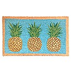 Glitter Pineapples 18-Inch x 30-Inch Multicolor Coir Door Mat