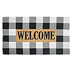 Buffalo Plaid Welcome 18-Inch x 30-Inch Multicolor Coir Door Mat