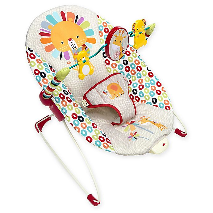 Alternate image 1 for Bright Starts™ Playful Pinwheels™ Vibrating Bouncer in Yellow