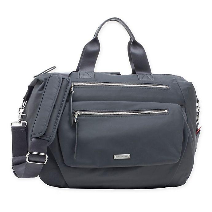 Alternate image 1 for Storksak® Seren Convertible Diaper Bag in Graphite
