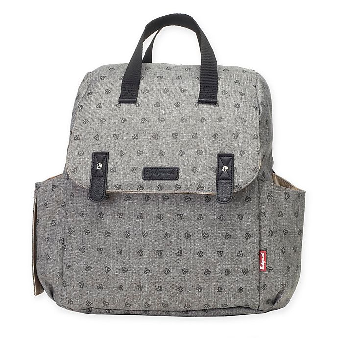 Alternate image 1 for BabyMel™ Robyn Convertible Backpack Diaper Bag in Heart Grey