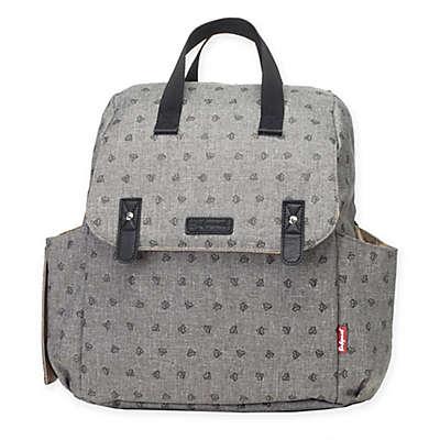 BabyMel™ Robyn Convertible Backpack Diaper Bag in Heart Grey