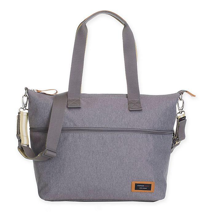 Alternate image 1 for Storksak® Travel Expandable Diaper Bag in Grey