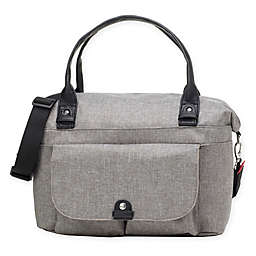 BabyMel™ Jade Over-the-Shoulder Diaper Bag in Grey