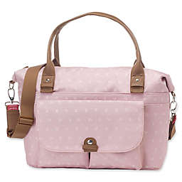 BabyMel™ Jade Over-the-Shoulder Diaper Bag in Dusty Pink