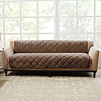Sure Fit® Brushed Faux Linen Sofa Protector in Cocoa