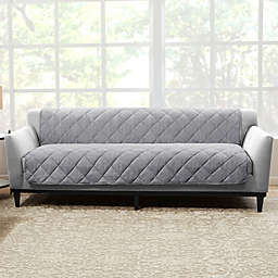 Sure Fit® Brushed Faux Linen Sofa Protector
