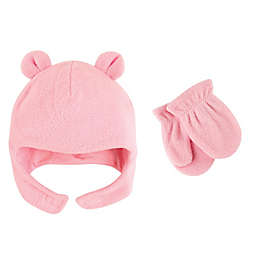 Luvable Friends® Fleece Hat and Mitten Set in Pink