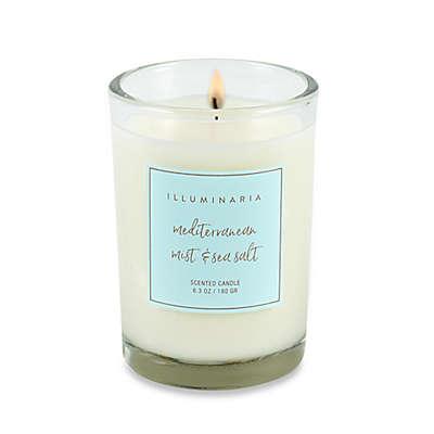 Illuminaria Mediterranean Mist and Sea Salt Candle Jar Gift Box