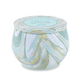 Illuminaria Mediterranean Mist and Sea Salt Multicolor Swirl Tin Candle