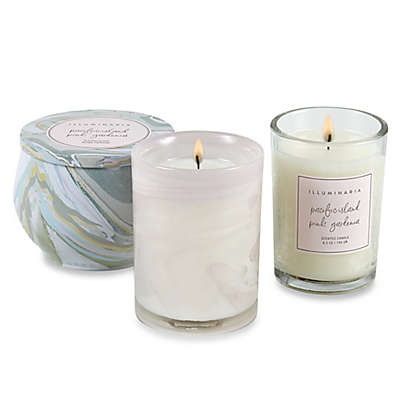 Illuminaria Pacific Island Pink Gardenia Candle Collection