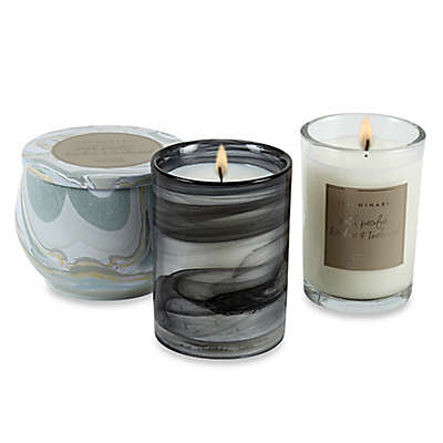 Illuminaria South Pacific Bamboo and Teakwood Candle Collection