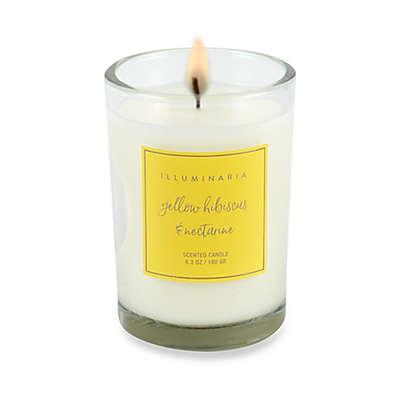 Illuminaria Yellow Hibiscus and Nectarine Jar Gift Box