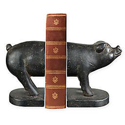 Sterling Industries Pork Fiction 2-Piece Bookend Set in Bronze