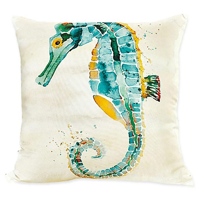Alternate image 1 for Sara B Seahorse Square Multicolor Throw Pillow