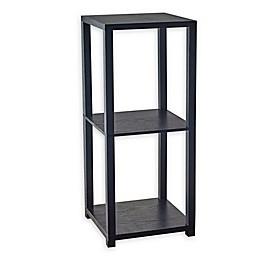 Adesso Lawrence Pedestal Bookcase in Black