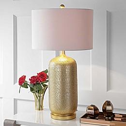 """JONATHAN Y Sophia 30"""" Resin Table Lamp in Gold"""