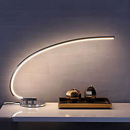 """JONATHAN Y Faye 16"""" LED Integrated Task Lamp in Chrome"""
