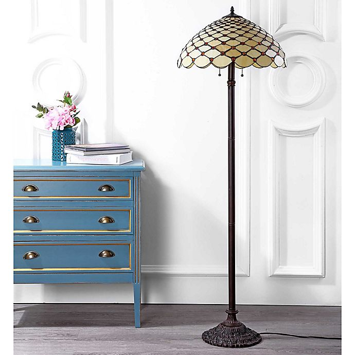 Jonathan Y Lee Tiffany Style 62 Floor Lamp In Bronze Bed Bath Beyond