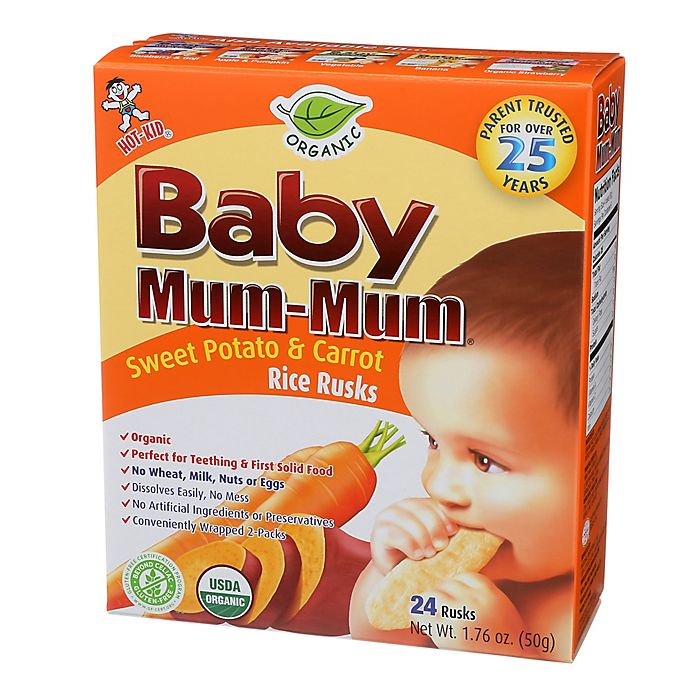 Alternate image 1 for Hot-Kid® 24-Count Baby Mum-Mum® Sweet Potato and Carrot Rice Biscuits