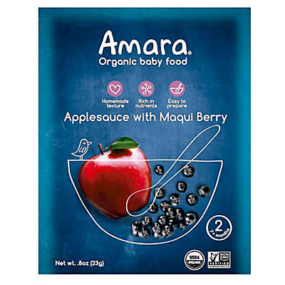 Amara® 4 oz. Applesauce with Maqui Berry Organic Baby Food