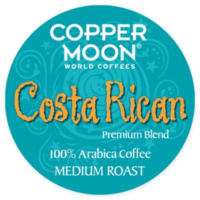 Copper Moon Coffee Single Serve Pods for Keurig 2.0 K-Cup Brewers, Costa Rican Blend, Medium Roast Coffee with A Bright but Smooth Balanced Body and Sweet Aroma, 20 Count