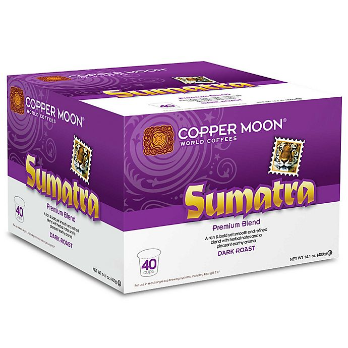 Alternate image 1 for 40-Count Copper Moon® Sumatra Coffee for Single Serve Coffee Makers