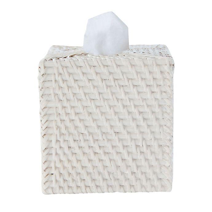 Alternate image 1 for Caribbean White Rattan Tissue Box Cover