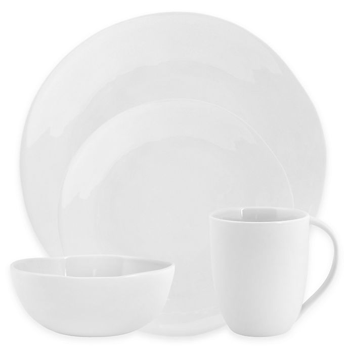 Alternate image 1 for Artisanal Kitchen Supply® Curve 16-Piece Dinnerware Set in White