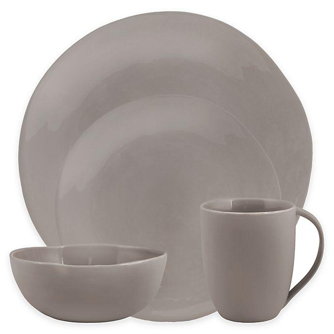 Alternate image 1 for Artisanal Kitchen Supply® Curve 16-Piece Dinnerware Set in Grey