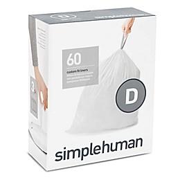 simplehuman® Code D 20-Liter Custom Fit Liners