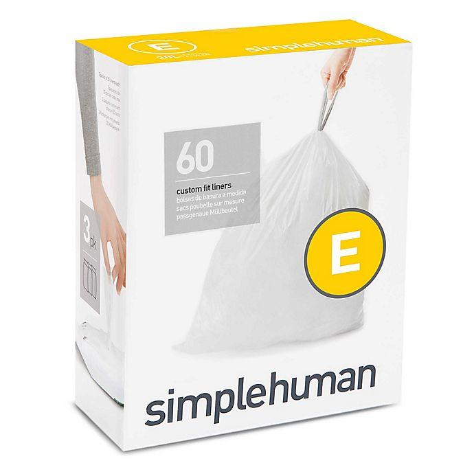 Alternate image 1 for simplehuman® Code E 20-Liter Custom Fit Liners