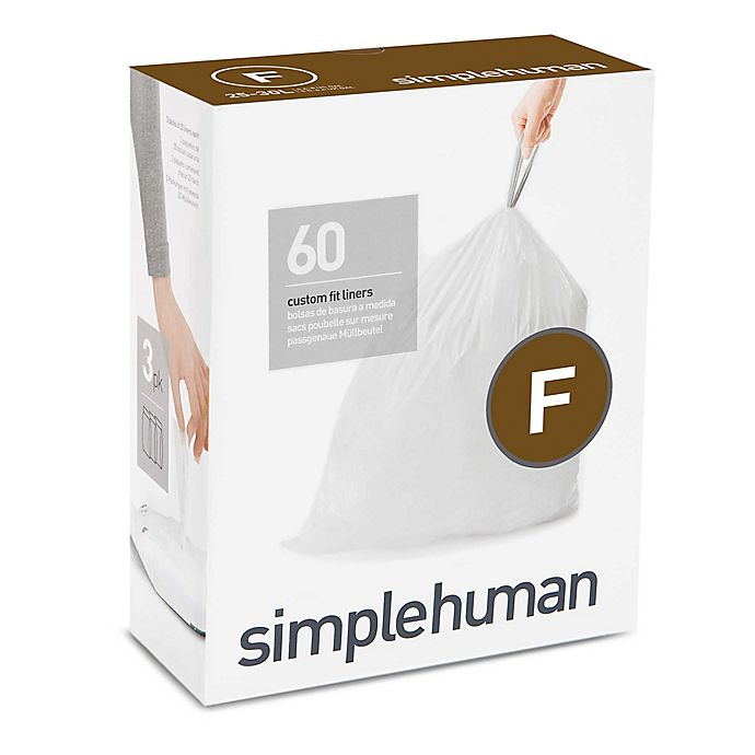 Alternate image 1 for simplehuman® Code F 25-Liter Custom Fit Liners