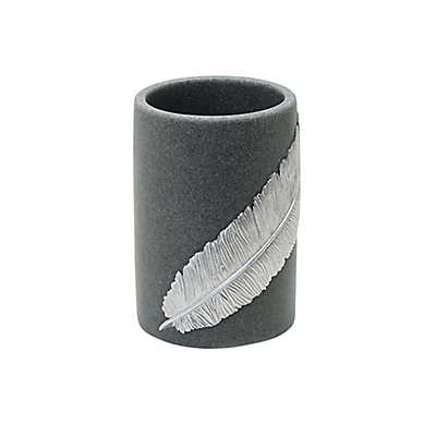 India Ink™ Feather Resin Tumbler in Grey Sand