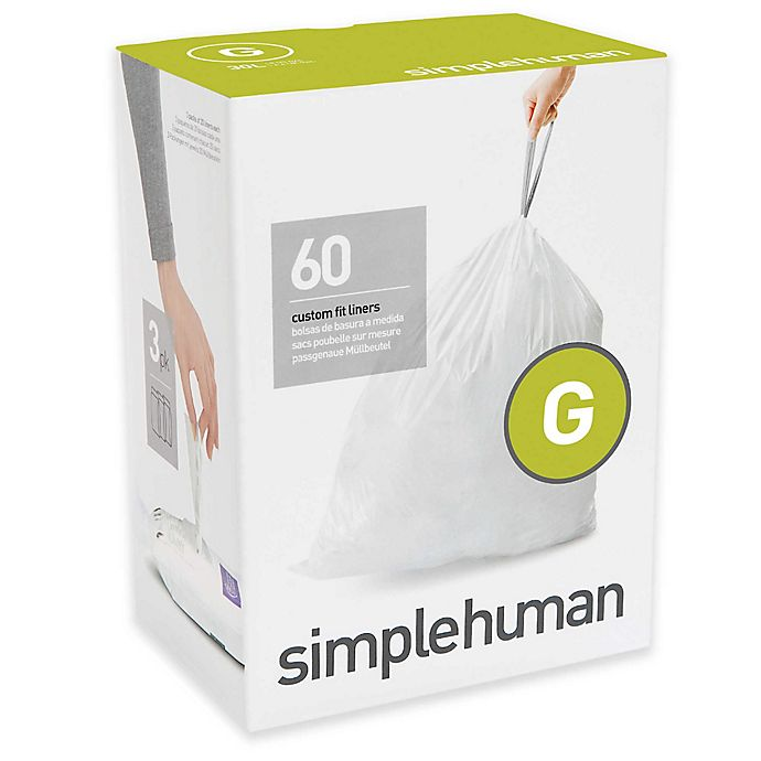 Alternate image 1 for simplehuman® Code G 30-Liter Custom-Fit Liners in White