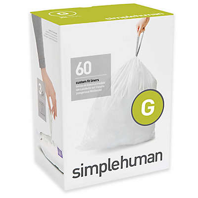 simplehuman® Code G 30-Liter Custom-Fit Liners in White