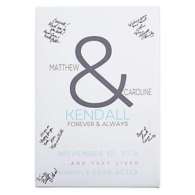 Forever & Always Wedding Signature Canvas Print