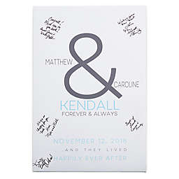 Forever & Always Wedding Signature Canvas Print