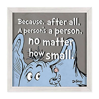 "Dr. Seuss™ Designs Horton ""A Person"" 12-Inch Square Framed Print on Glass"
