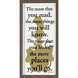 "Dr. Seuss™ Designs ""The More You Read"" Cat In the Hat Framed Wall Art"