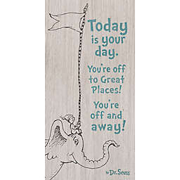 """Dr. Seuss™ Designs """"You're Off and Away"""" Wood Wall Art"""