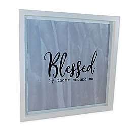 Sweet Bird & Co. Blessed 22-Inch Square Wood Wall Art
