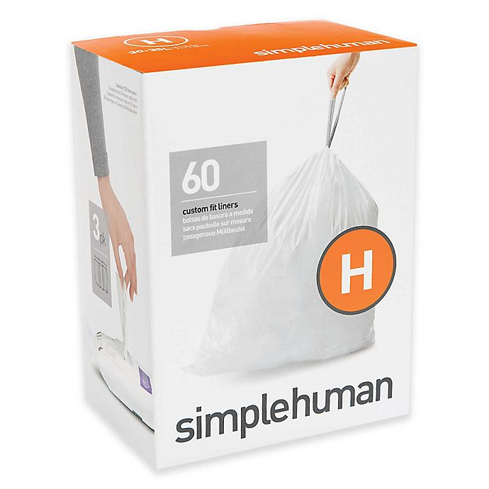 Alternate image 1 for simplehuman® Code H 30-35-Liter Custom-Fit Liners in White