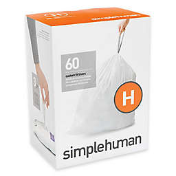 simplehuman® Code H 30-35-Liter Custom-Fit Liners in White