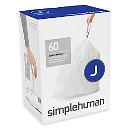 simplehuman® Code J 38-40-Liter Custom Fit Liners in White