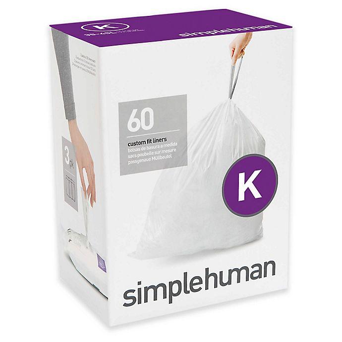 Alternate image 1 for simplehuman® Code K 35-45-Liter Custom Fit Liners